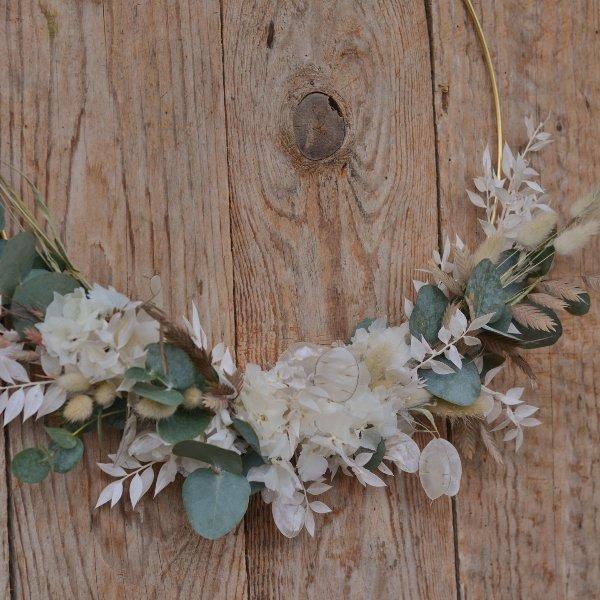 Trockenblumen Loop creme Bild 1