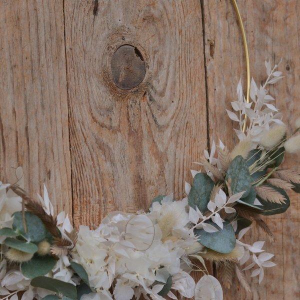 Trockenblumen Loop creme Bild 2