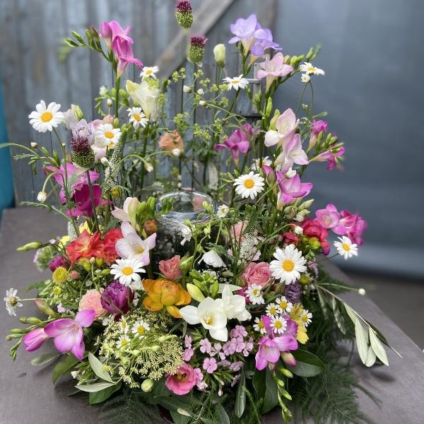 #TU1 Urnenschmuck Blumengarten wiesig Bild 1