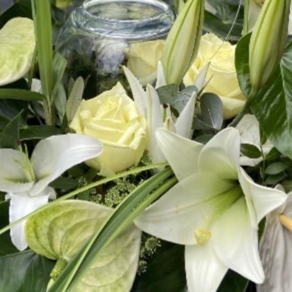 #TU1 Urnenschmuck Blumengarten edel Bild 1