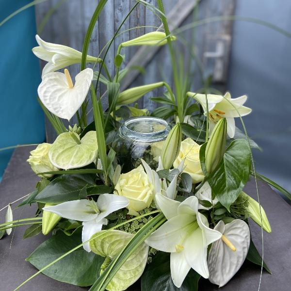 #TU1 Urnenschmuck Blumengarten edel Bild 2