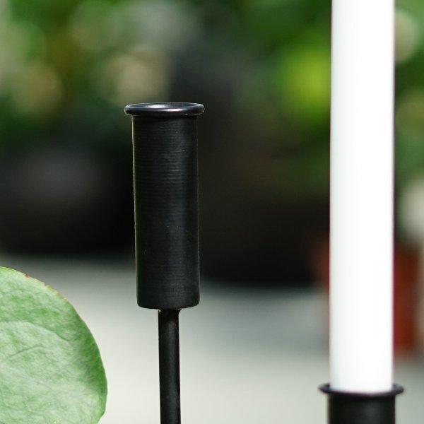 Kerzenleuchter Steel und Übertöpfe Flora Bild 4