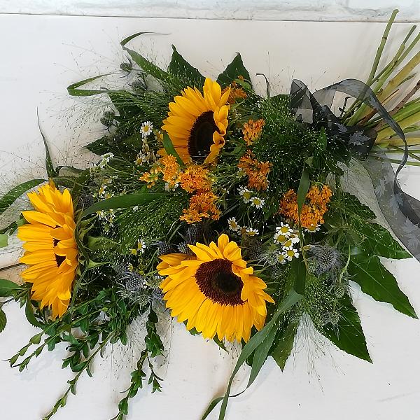 Trau 4   Trauerstrauß aus Sonnenblumen Bild 2
