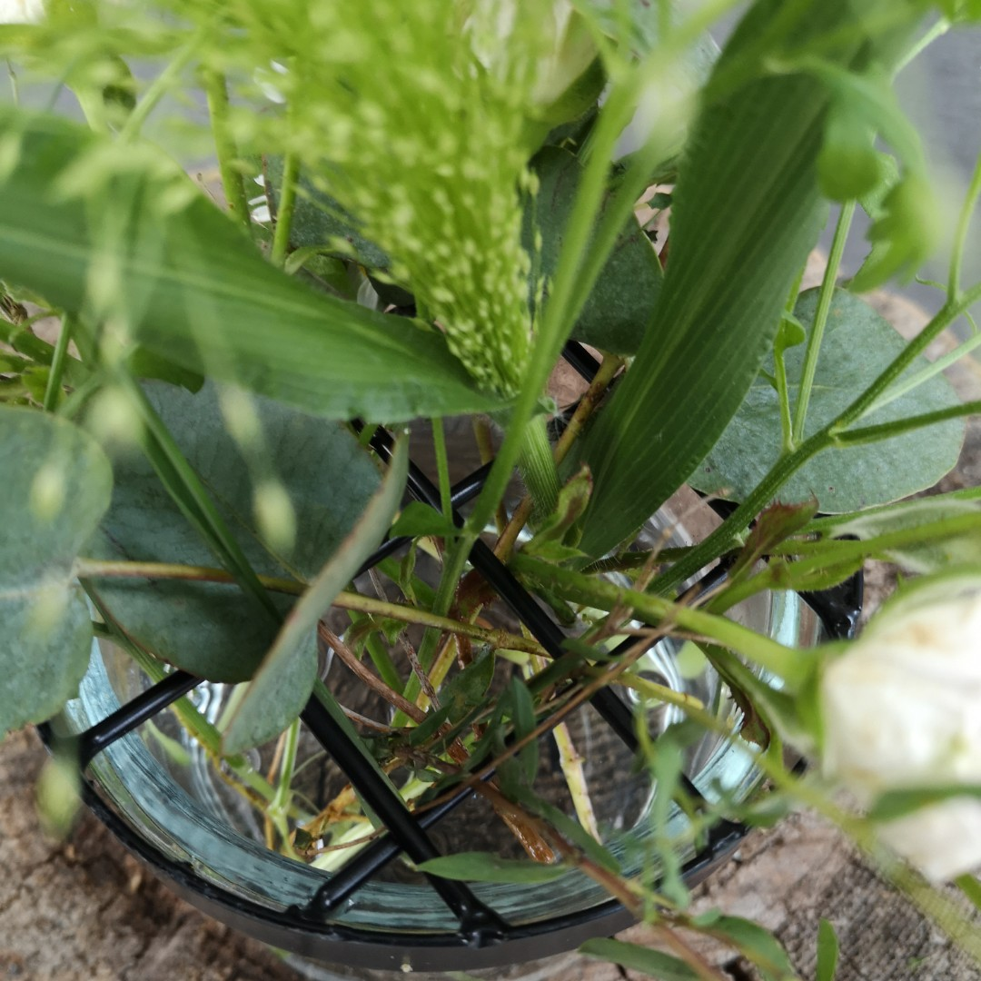 Vase mit Gitterdeckel - Klein Bild 2