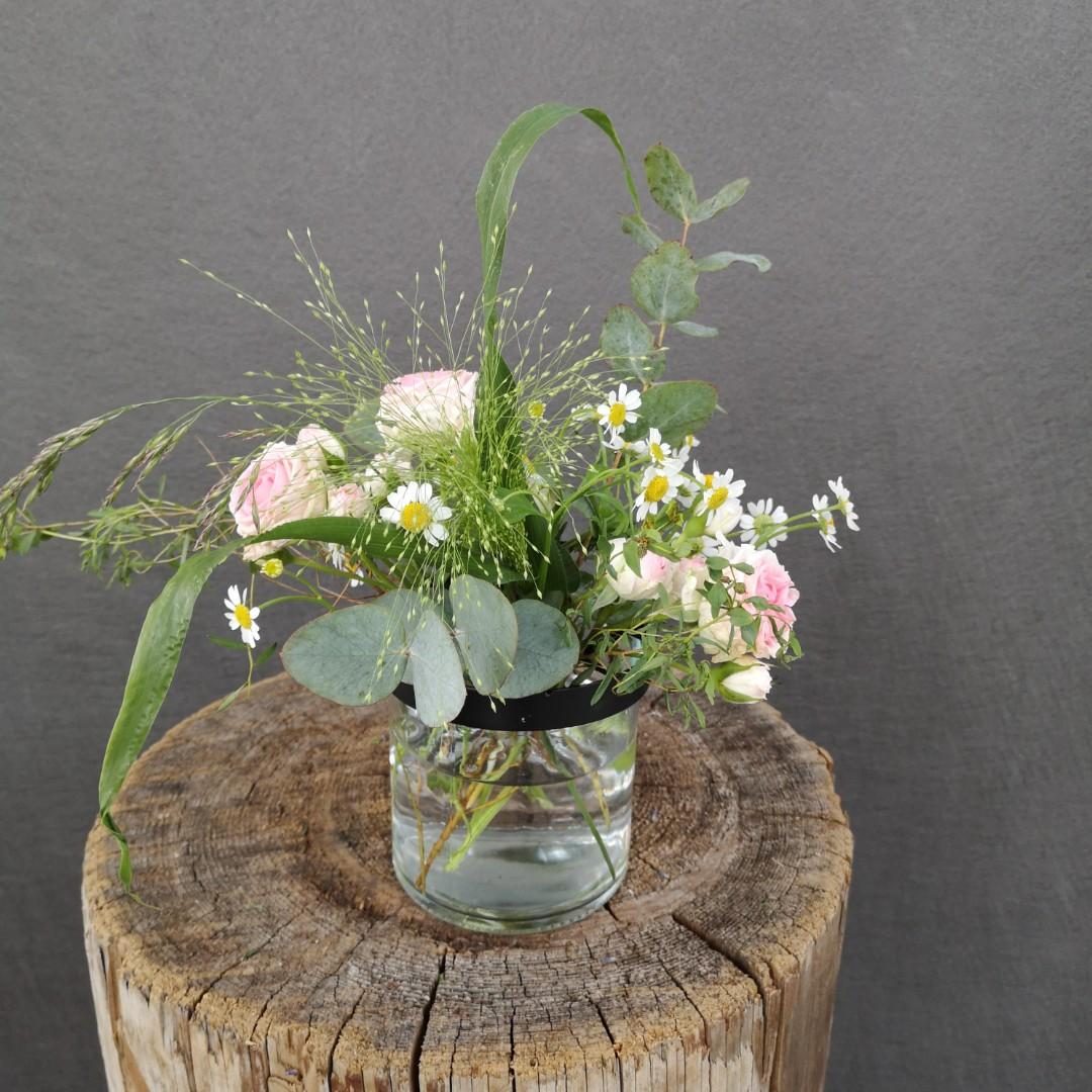 Vase mit Gitterdeckel - Klein Bild 3