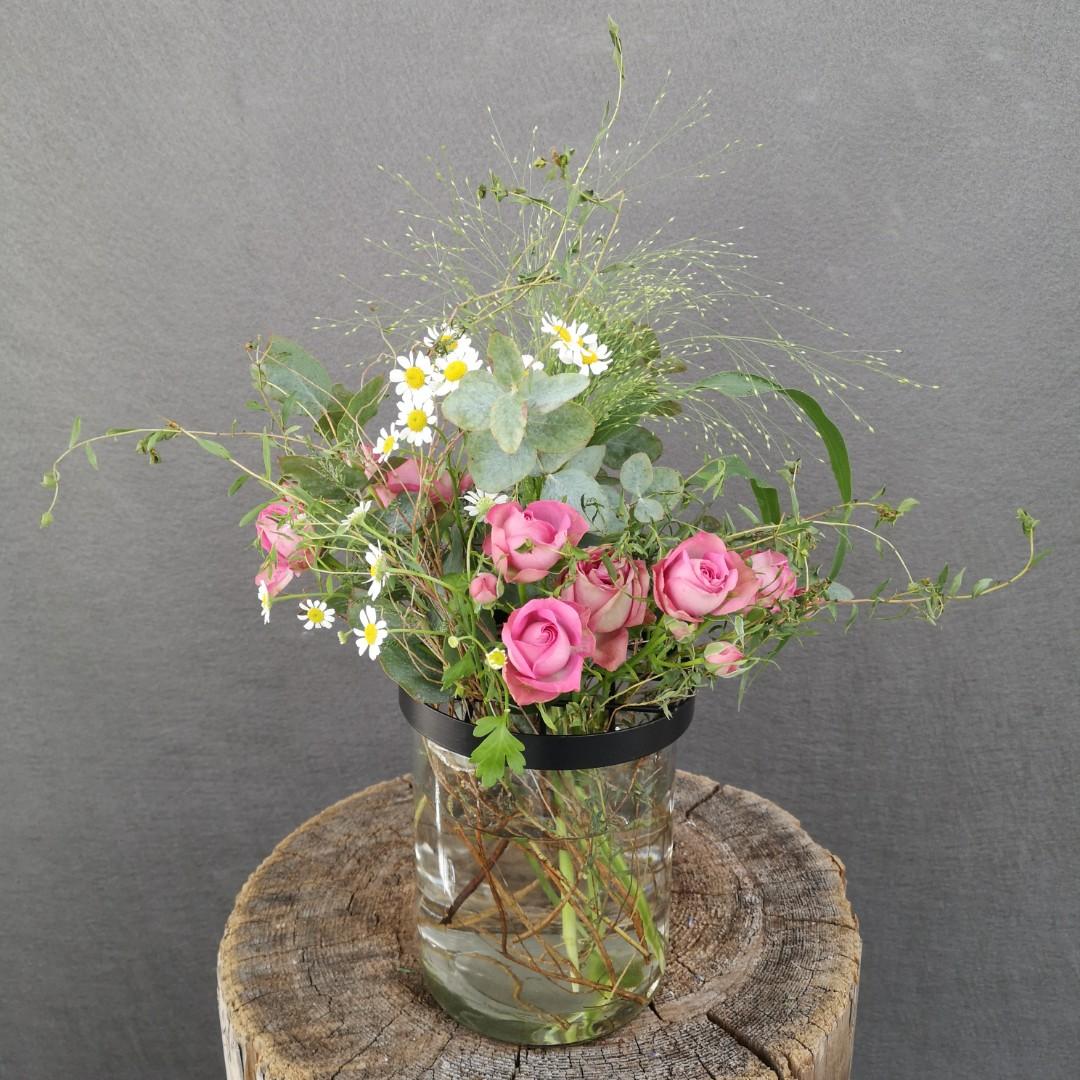 Vase mit Gitterdeckel - Groß Bild 1