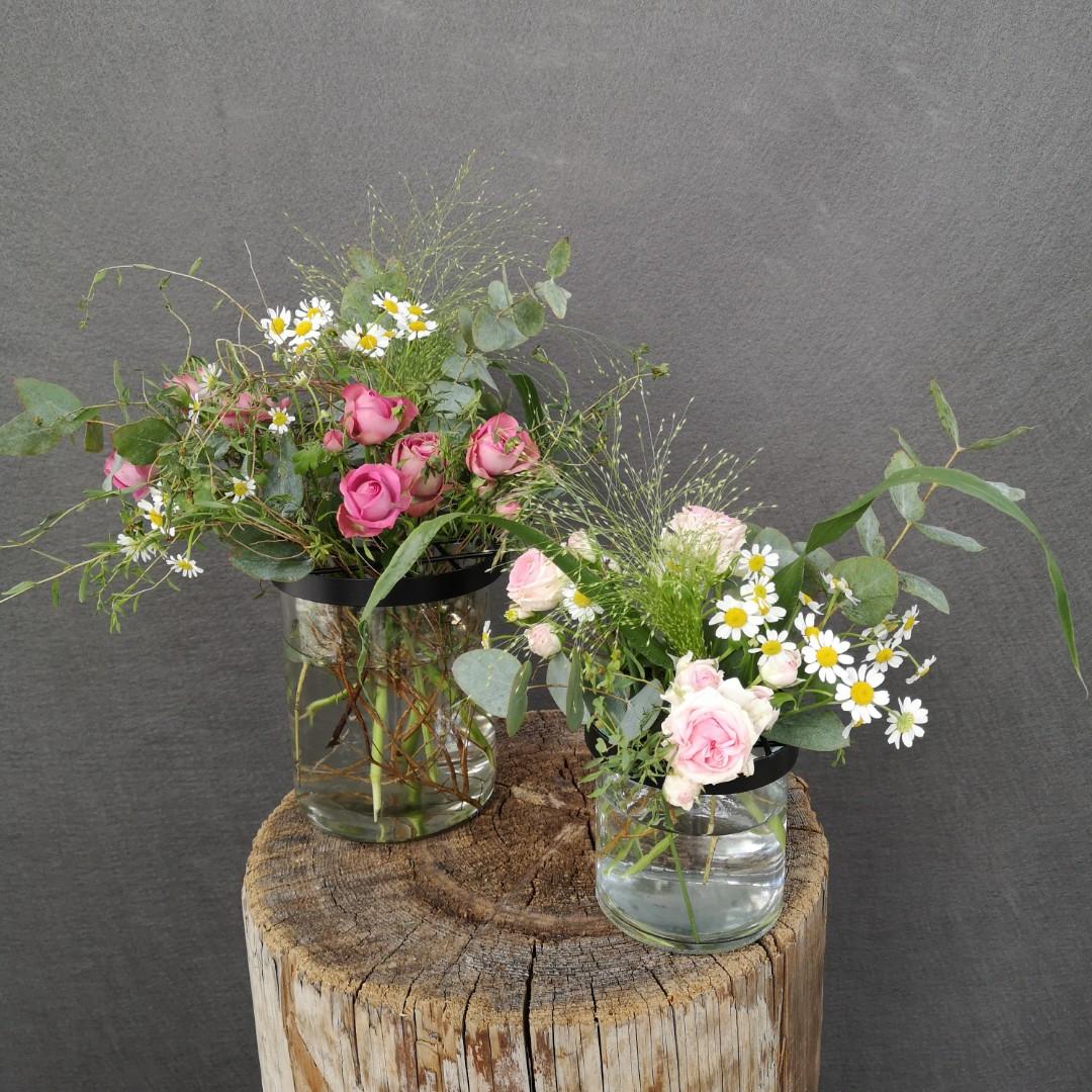 Vasen mit Gitterdeckel - Komplett Bild 1