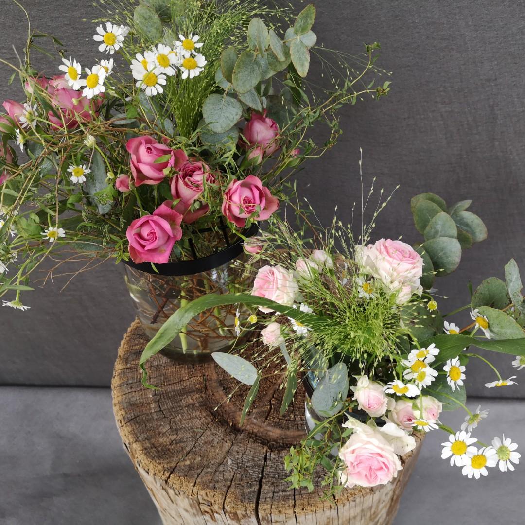 Vasen mit Gitterdeckel - Komplett Bild 3