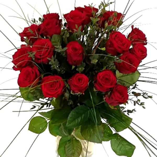 STR 10     Strauß rote Rosen Bild 1