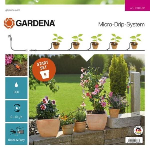 Gardena Micro-Drip-System Start Set Pflanztöpfe S Bild 1
