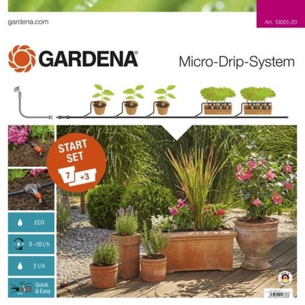 Gardena Micro-Drip-System Start Set Pflanztöpfe M Bild 1