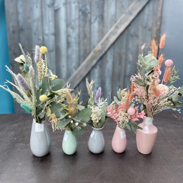 #55 Strauß mit Vase Pastellvase Bild 3
