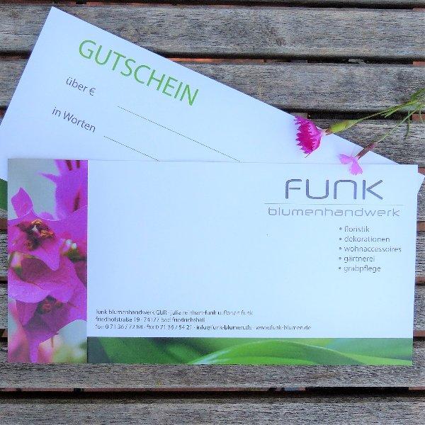 Geschenk-Gutschein pink Bild 1