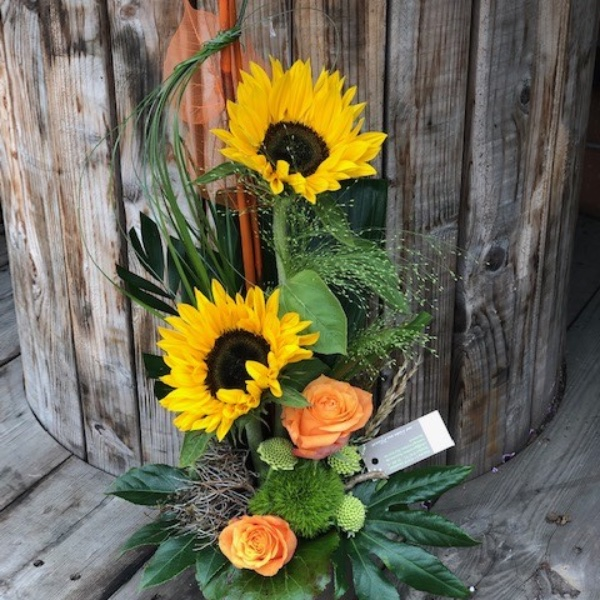 Sonnenblumen-Gesteck Bild 1