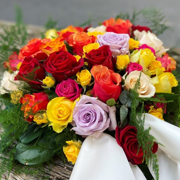 #T2 Blütenherz aus Rosen Bild 2
