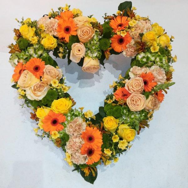H 21  Offenes Herz gelb/orange Bild 1