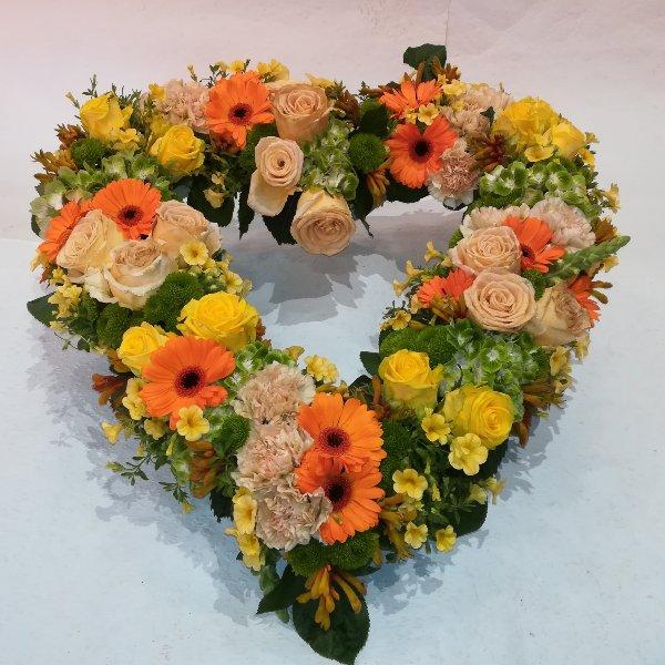 H 21  Offenes Herz gelb/orange Bild 2