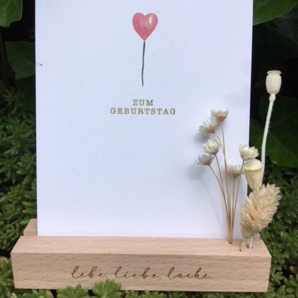 Trockenblumen & Kartenständer Bild 1