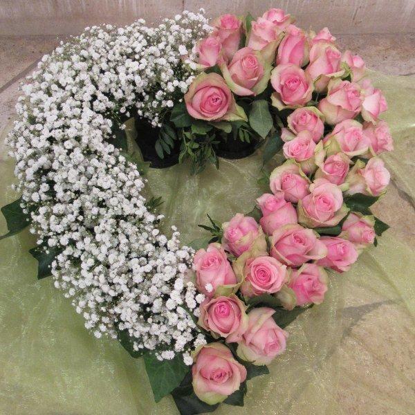 Blütenherz, offen in rosa-weisss Bild 1