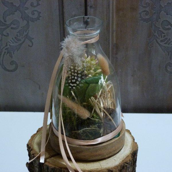 Ballonglas bepflanzt Bild 3