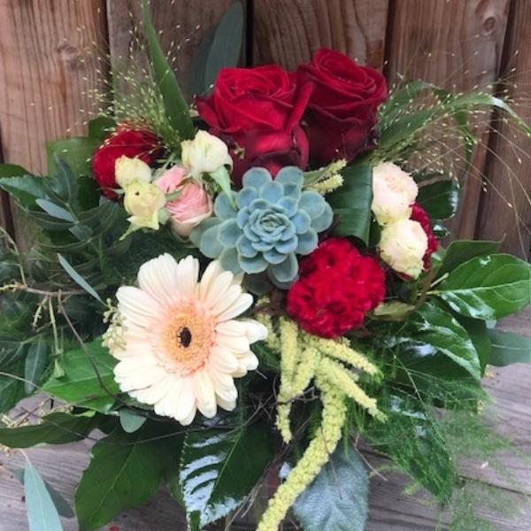"""Blumen-Strauß """"Rote Rosen und mehr"""" Bild 2"""