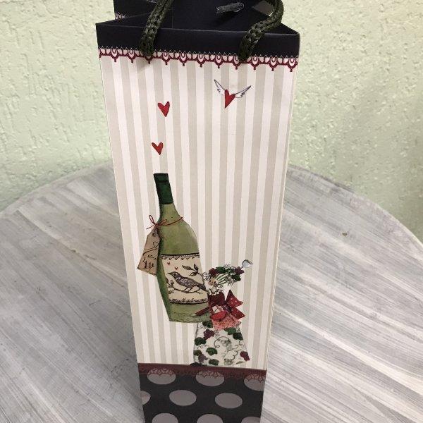 Geschenktasche Wein für Flaschen Bild 1