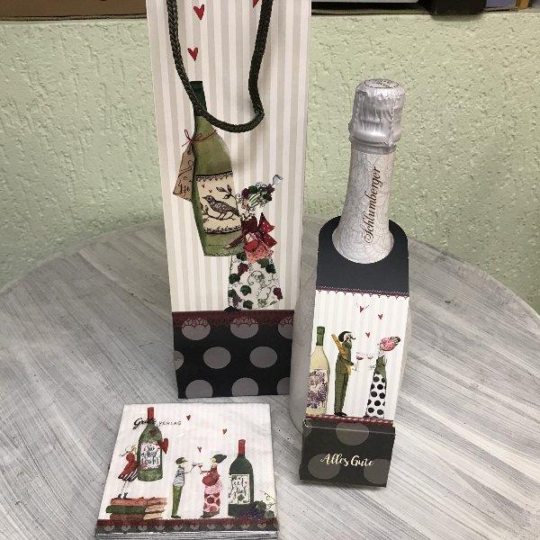 Geschenktasche Wein für Flaschen Bild 2