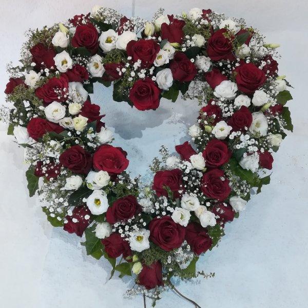 H24 offenes Herz in rot-weiß Bild 1