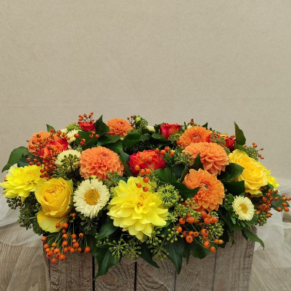 Urnenkranz- leuchtende Herbstfarben Bild 1