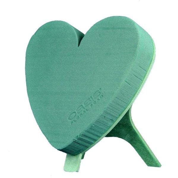 Urnenschmuck - Herzform mit Aufsteller gesteckt mit Rosen Bild 2
