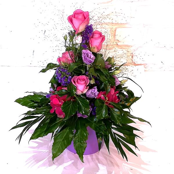 GES 2     Gesteck in pink-lila Bild 1