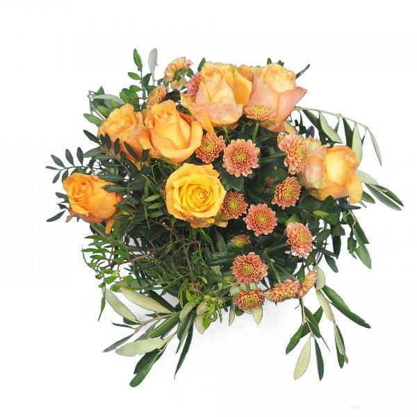 Grabgesteck mit Rosen Bild 2
