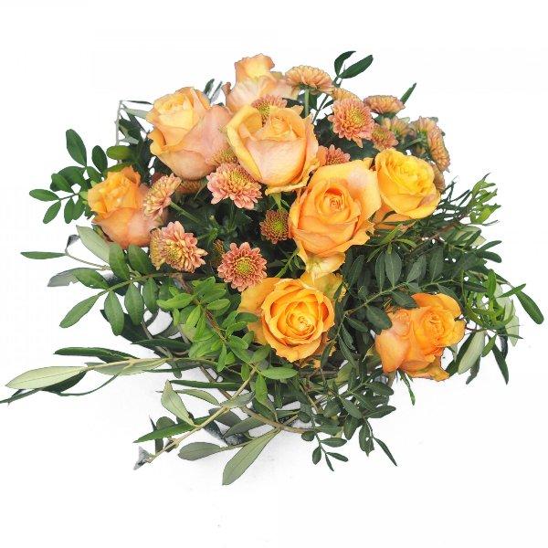 Grabgesteck mit Rosen Bild 1