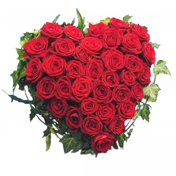 Herzform mit roten Rosen I Bild 2
