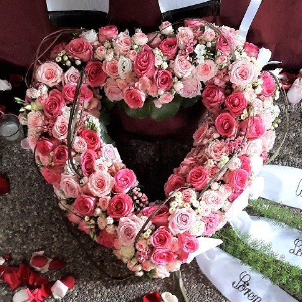Rosenherz in rosa Bild 1
