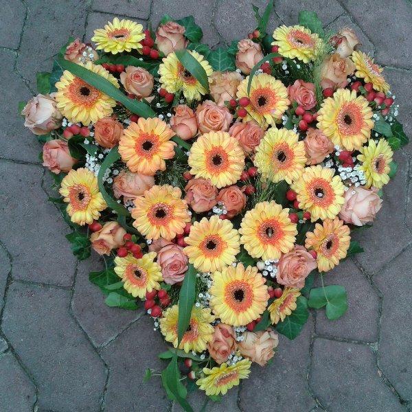 Herz gelb-orange Bild 1