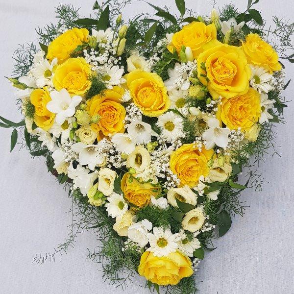 Herz gelb-weiß Bild 1
