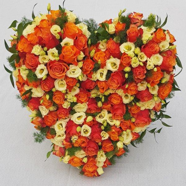 Stehendes Herz orange Bild 1