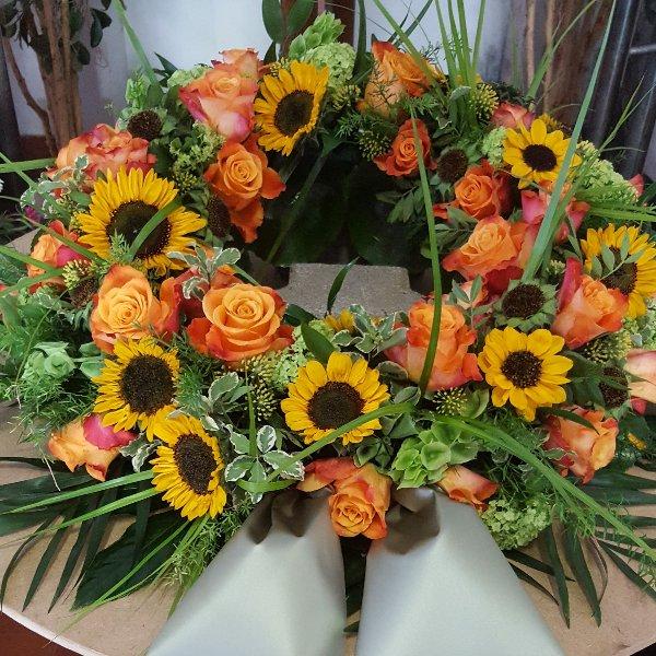Urnenkranz Sonnenblume Bild 1