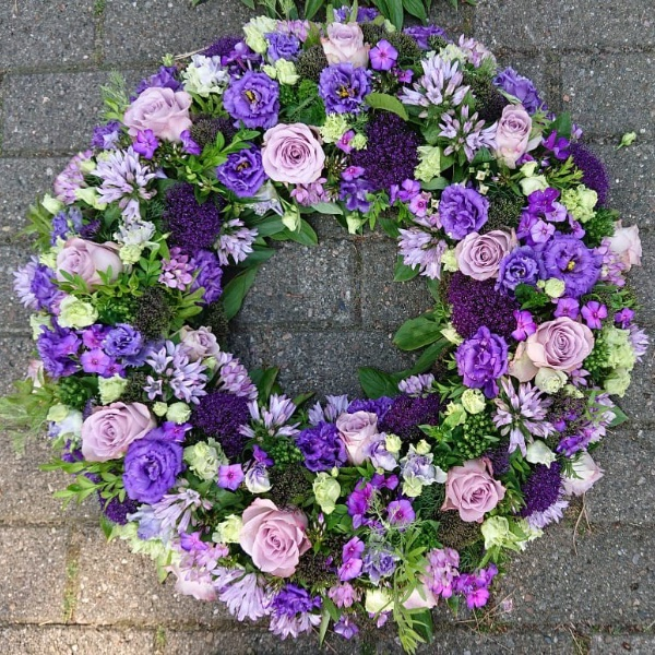 Trauerkranz - lila Bild 1