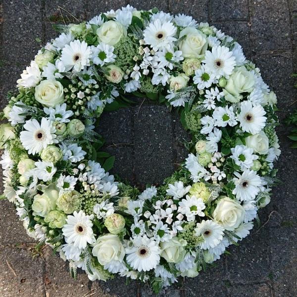 Trauerkranz - weiß Bild 1
