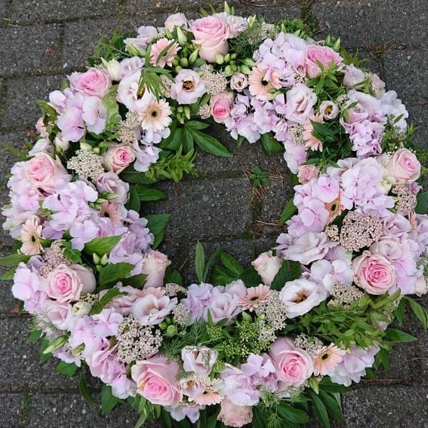 Trauerkranz - rosa Bild 1