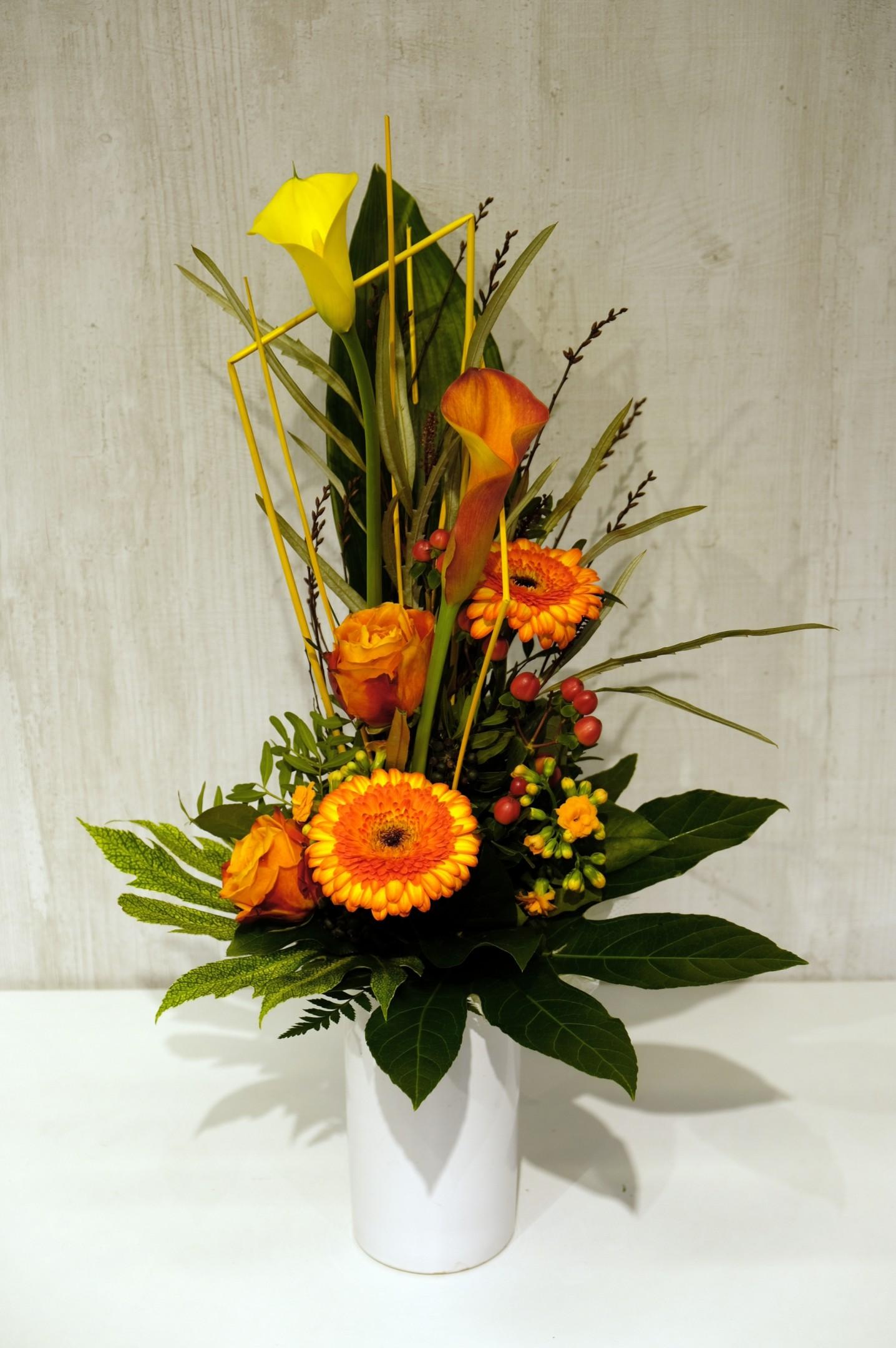 Gestufter Strauß in orange/gelb Bild 2