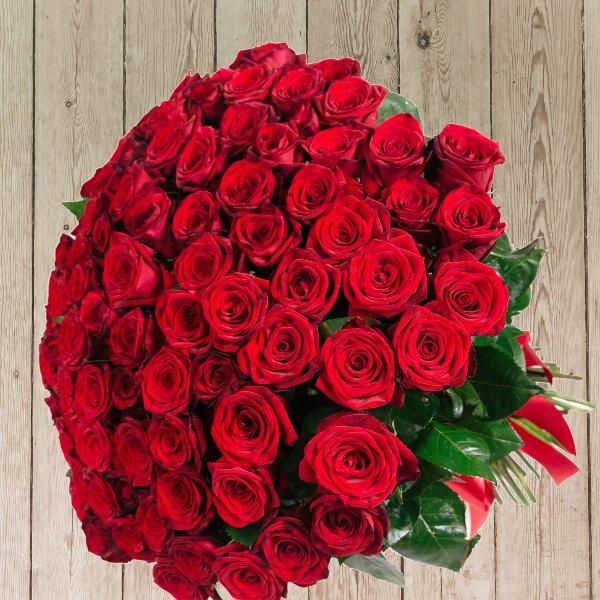 Strauß Rosen zum Jahrestag, Geburtstag Bild 1