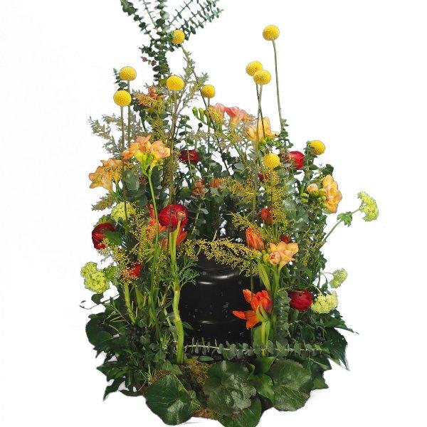 Urnenwiese mit frühlingshafter Blumenkombination Bild 3