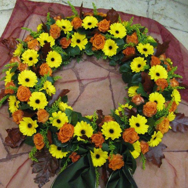 Blütenkranz, gelb/orange Bild 1