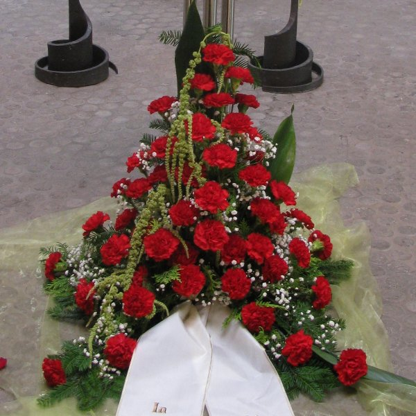 Blumenbukett, rote Nelken Bild 1