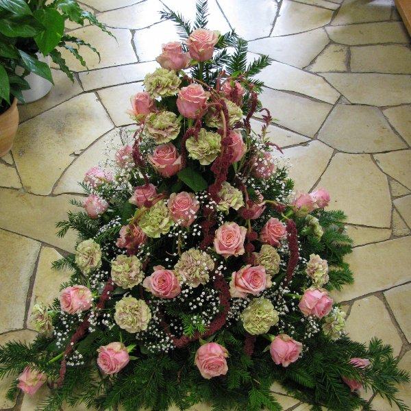 Blumenbukett, rosa/grün-weiß Bild 1
