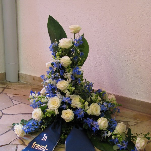 Blumenbukett, blau/weiß Bild 1