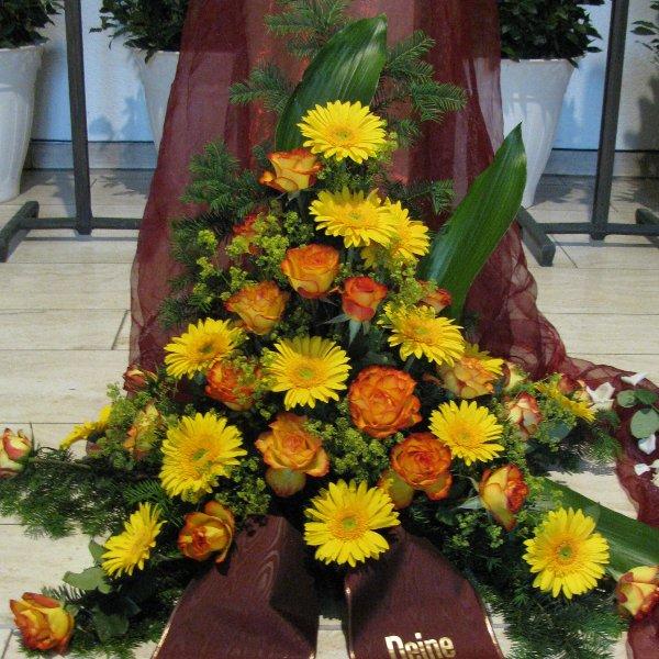 Blumenbukett, orange/gelb Bild 1
